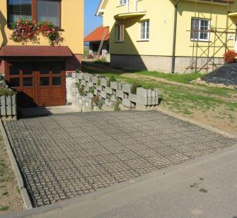 Obrázek - použití zatravňovací dlažby